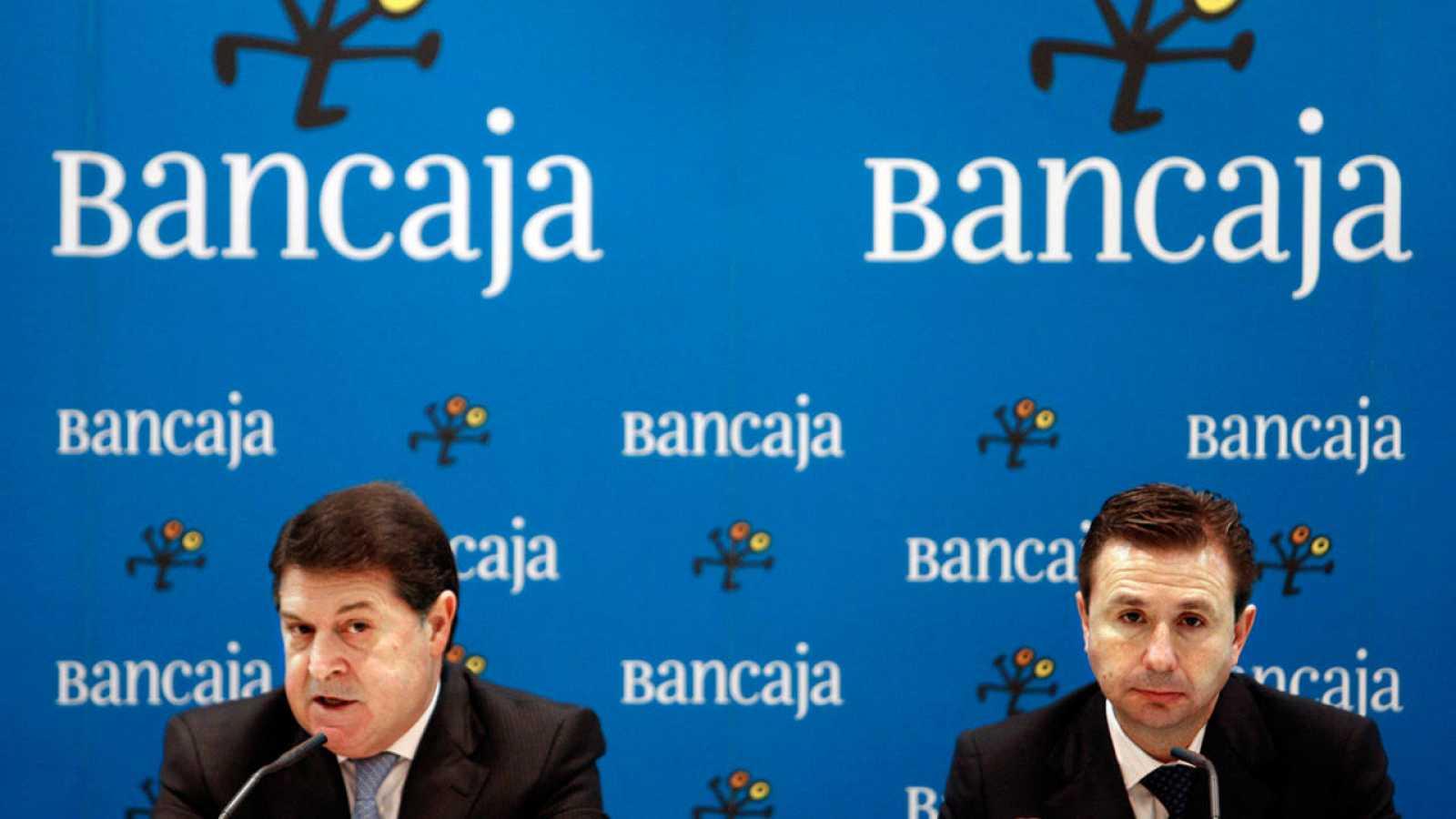 El presidente de Bancaja, Jose Luis Olivas, y el director general, Aurelio Izquierdo, en una imagen de archivo
