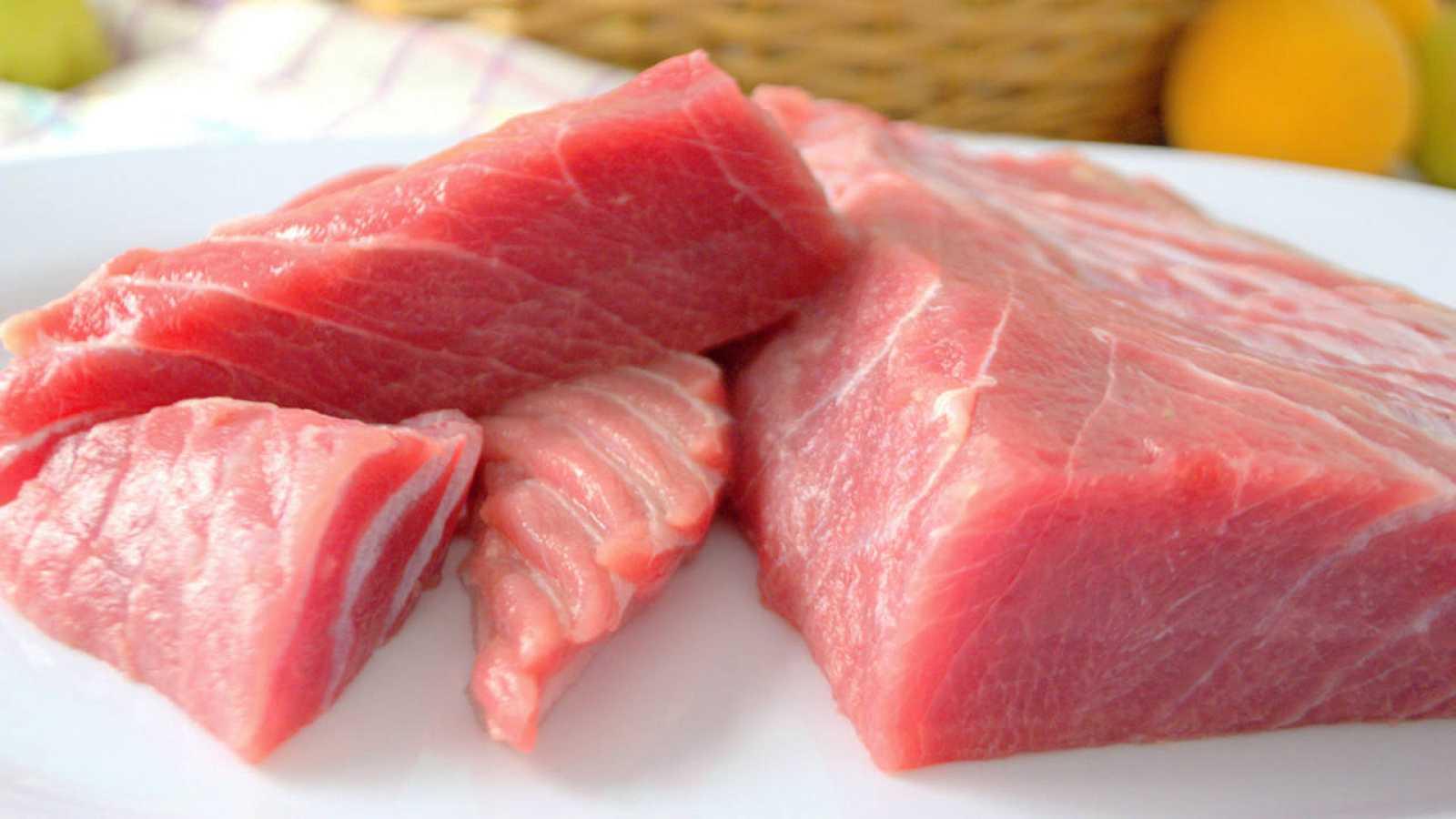 Trozos de ventresca de atún