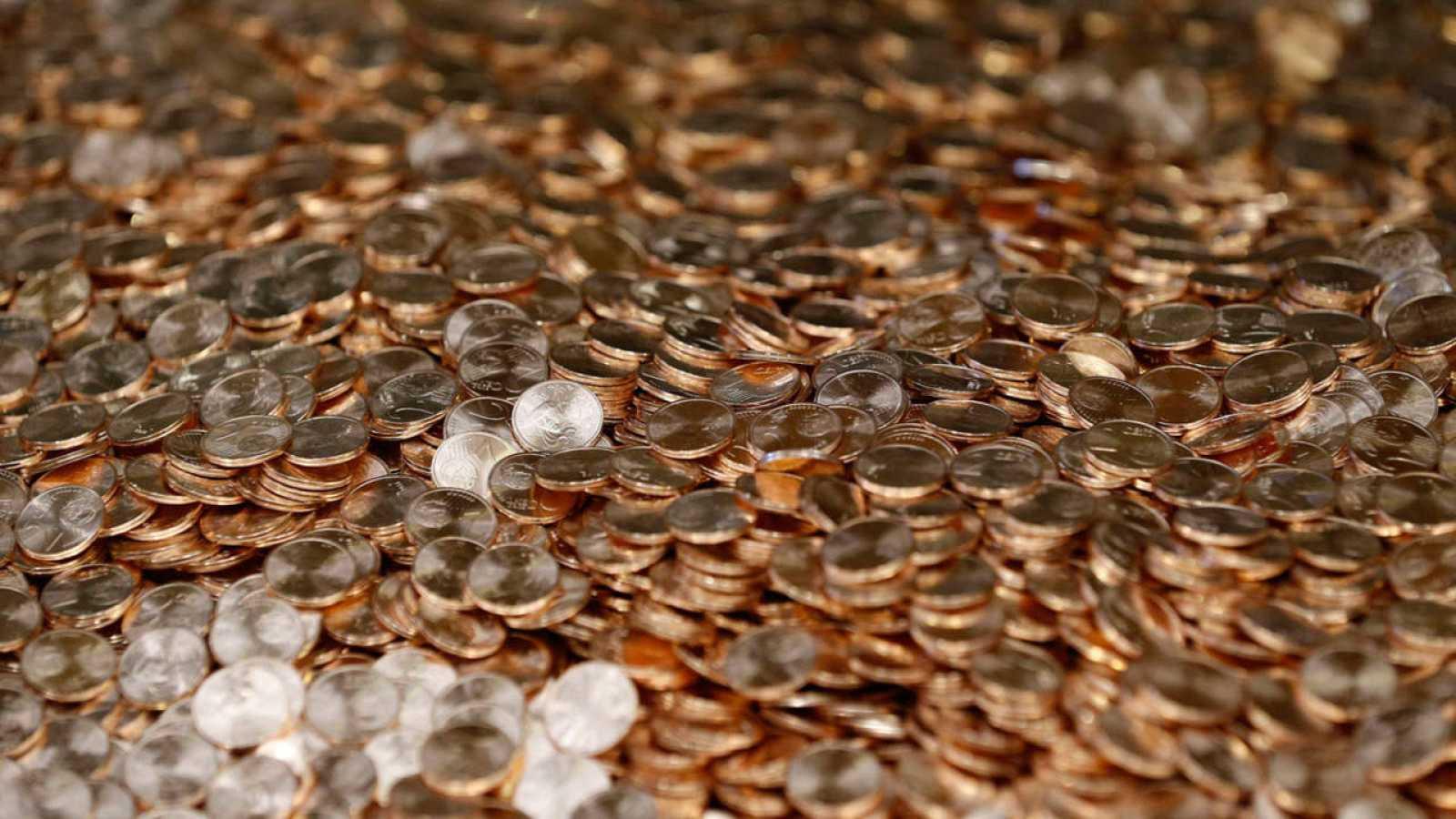 Monedas de un céntimo de euro