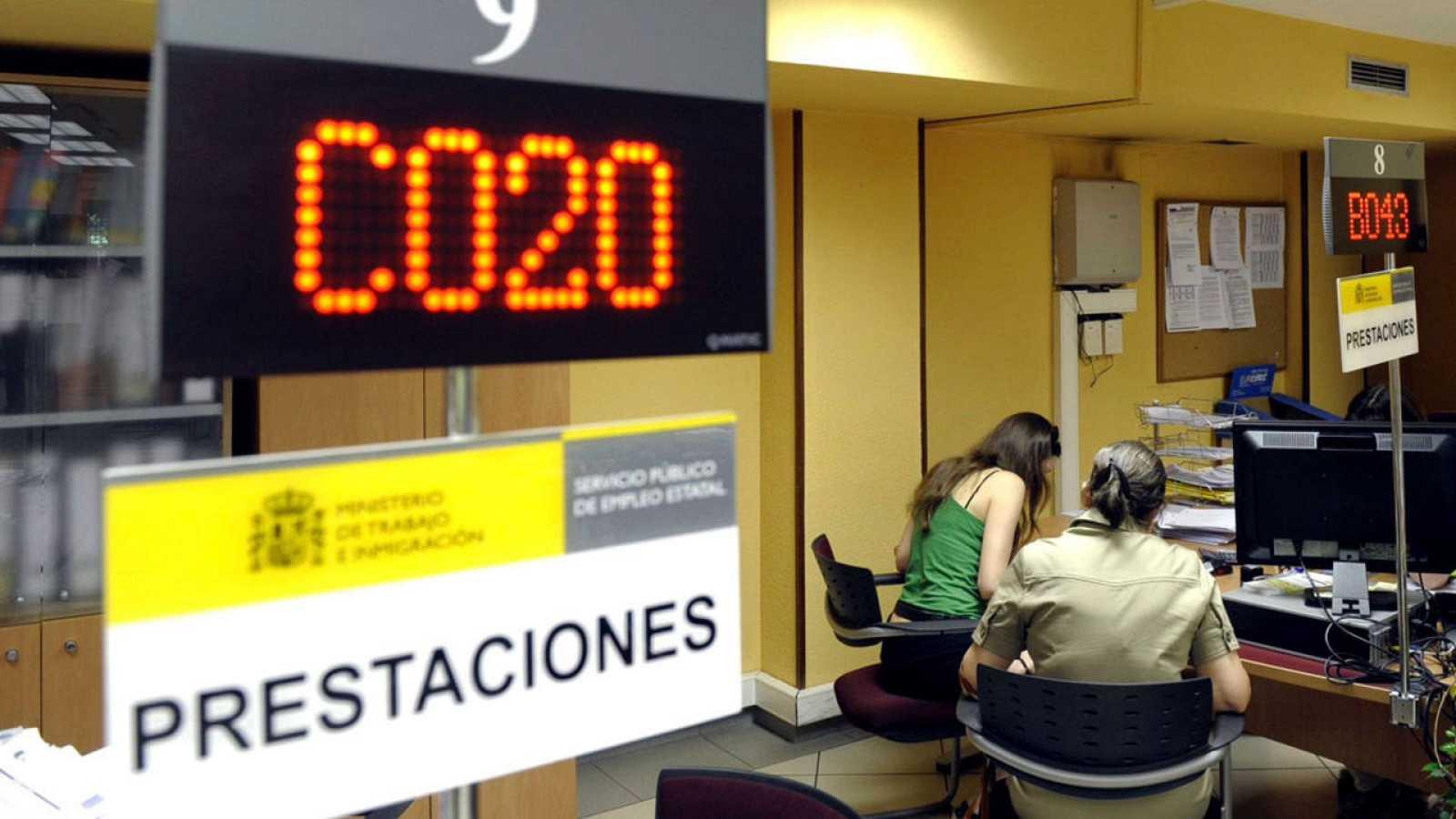 Imagen de archivo del interior de una oficina de empleo de Valladolid