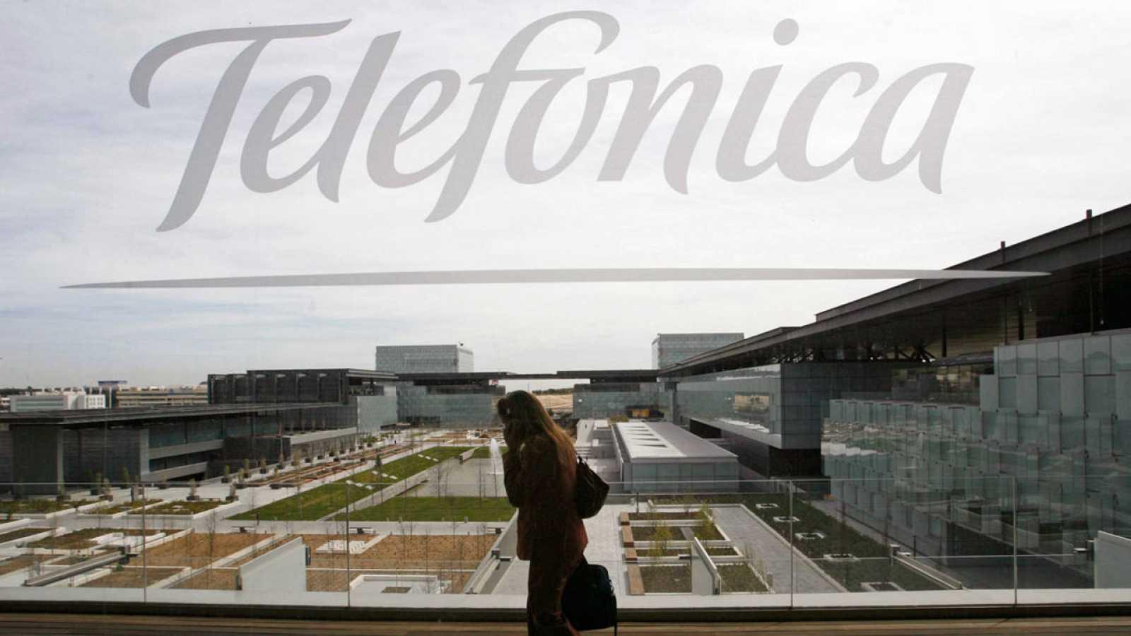 Imagen de la sede de Telefónica, en Madrid