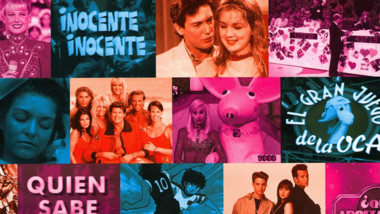 Fragmento de la portada de 'Telepasión por los 90'