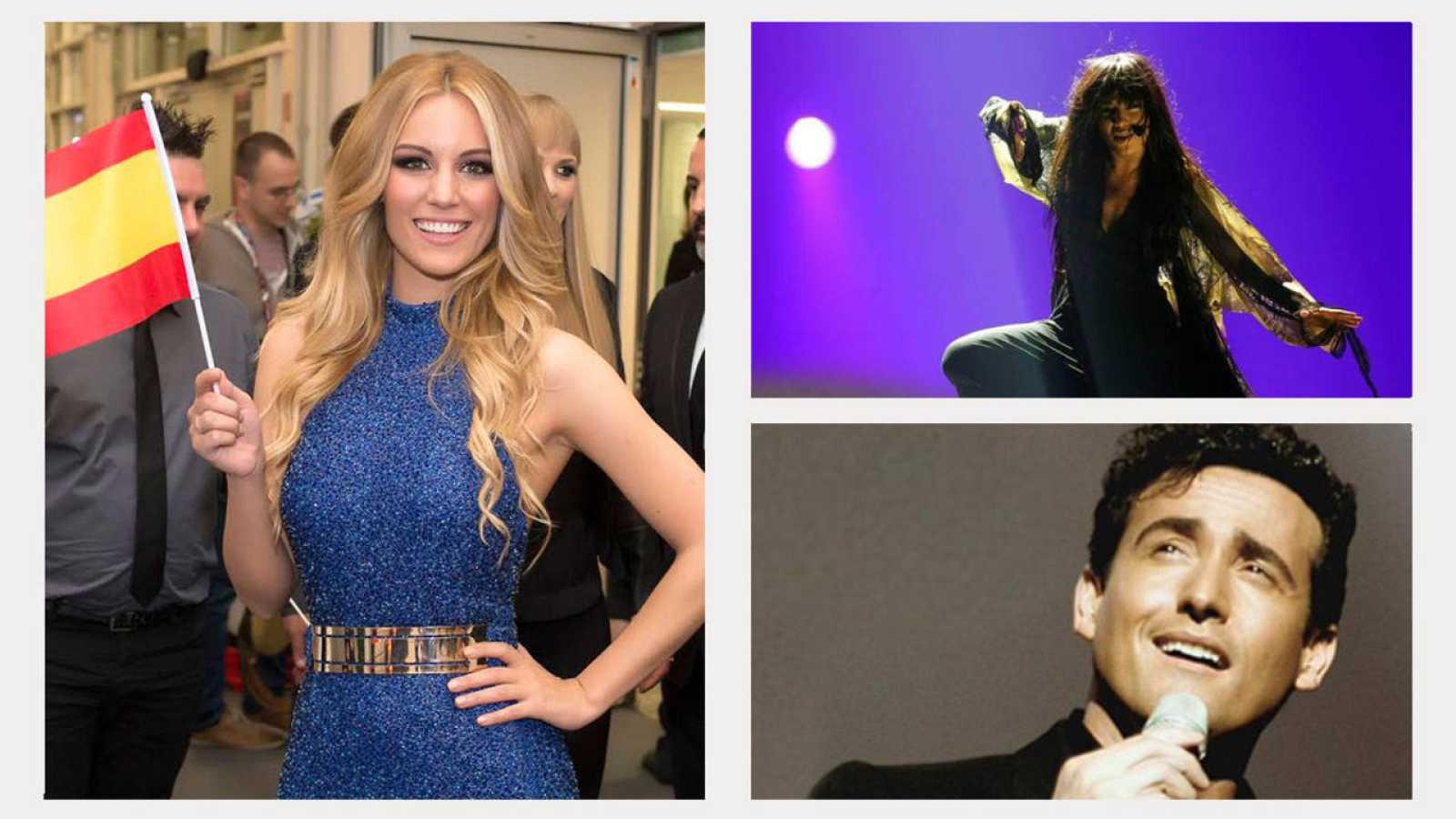 Edurne, Loreen y Carlos Marín, los tres integrantes del jurado de plató de 'Objetivo Eurovisión'