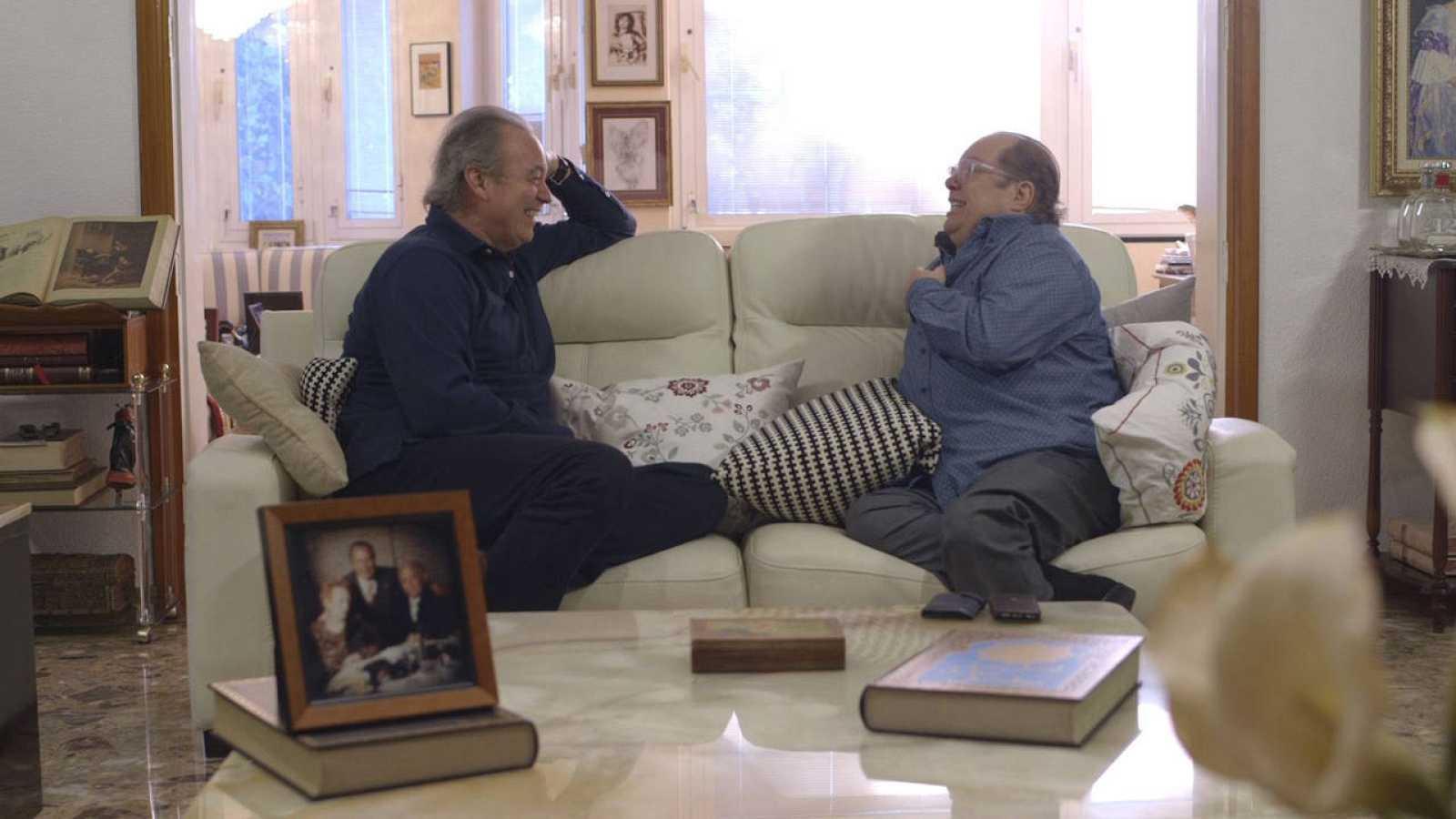 Bertín y Arévalo durante la entrevista en 'En la tuya o en la mía'