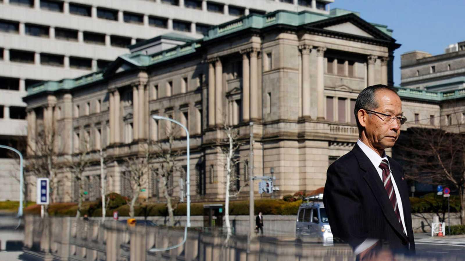 Imagen de archivo de la sede del Banco de Japón en Tokio.