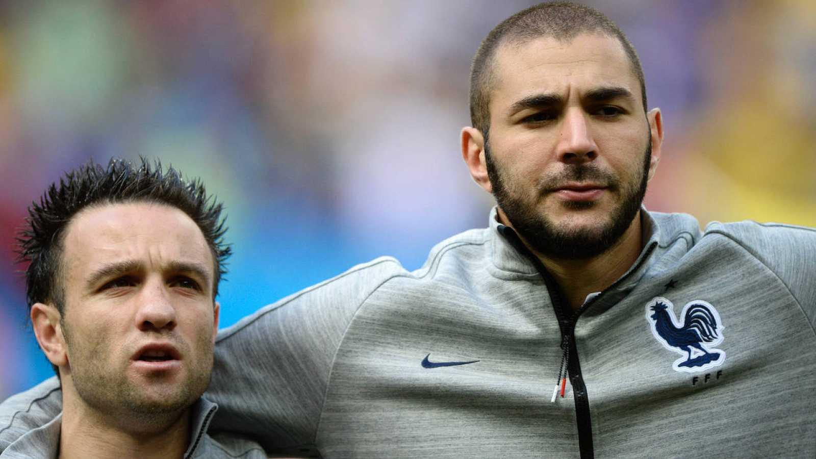 Fotografía de archivo de Karim Benzema y Mathieu Valbuena