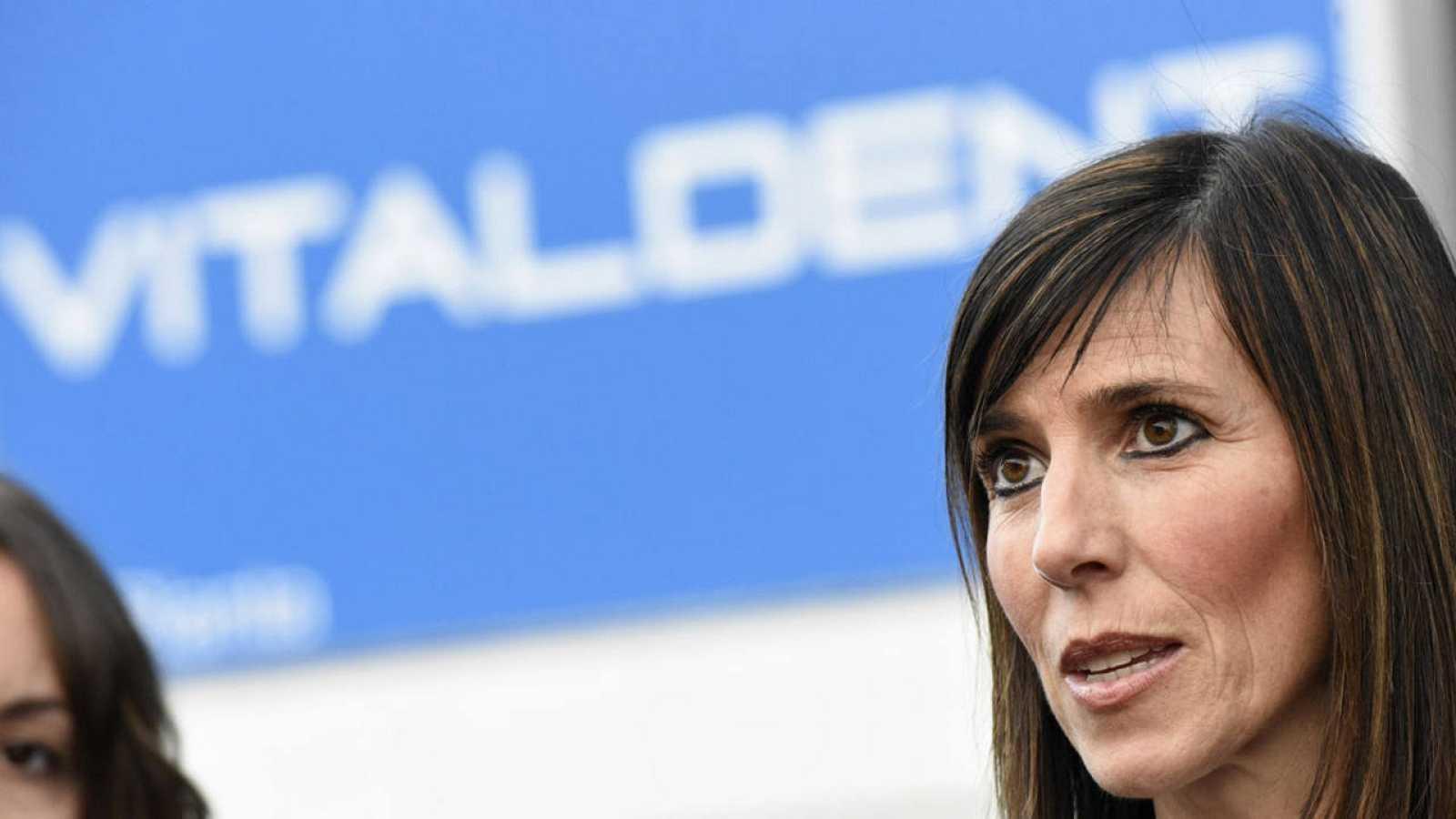 La portavoz de Vitaldent,  Ana Caspistegui, en la sede central en Las Rozas