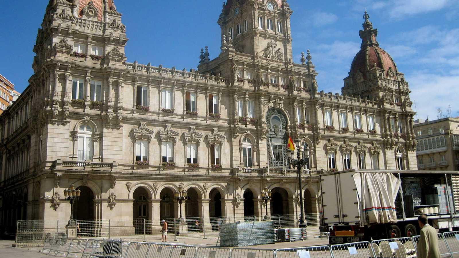 Imagen de archivo de la sede principal del Ayuntamiento de A Coruña
