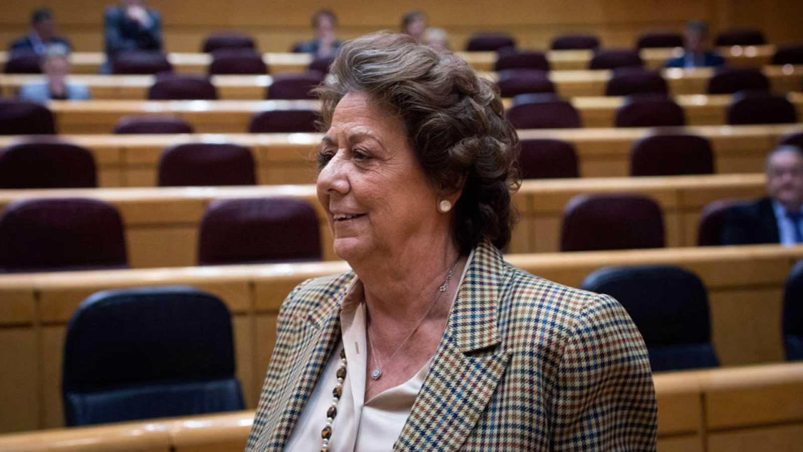 La exalcaldesa de Valencia y actual senadora Rita Barberá