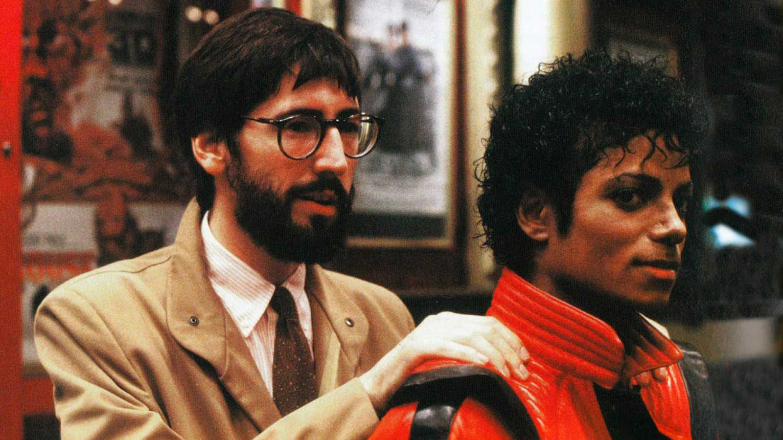 John Landis y Michael Jackson en el rodaje de 'Thriller'