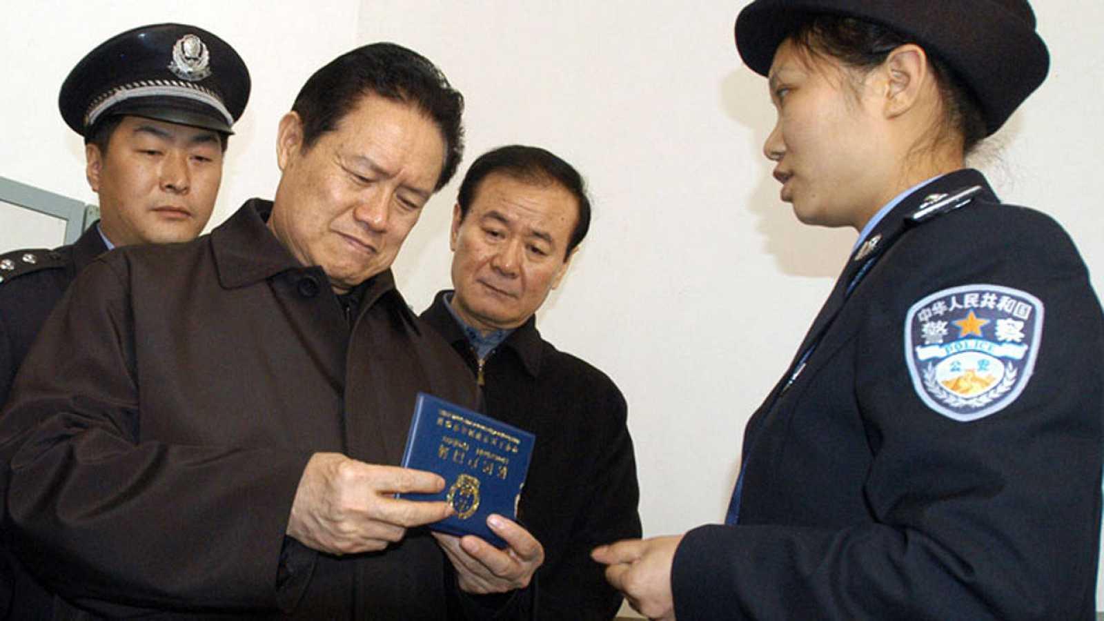 El exministro de Seguridad chino Zhou Yongkang, condenado por corrupción, en una imagen de archivo