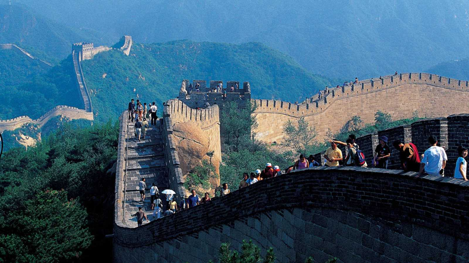 Turistas en la Gran Muralla China