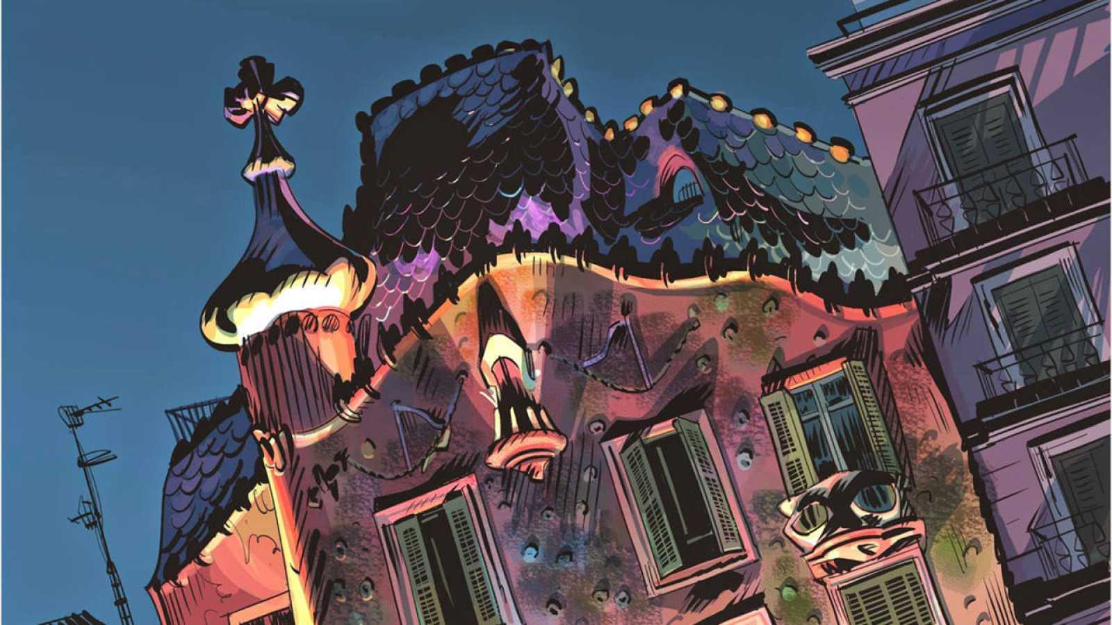 Viñeta de 'El fantasma de Gaudí'