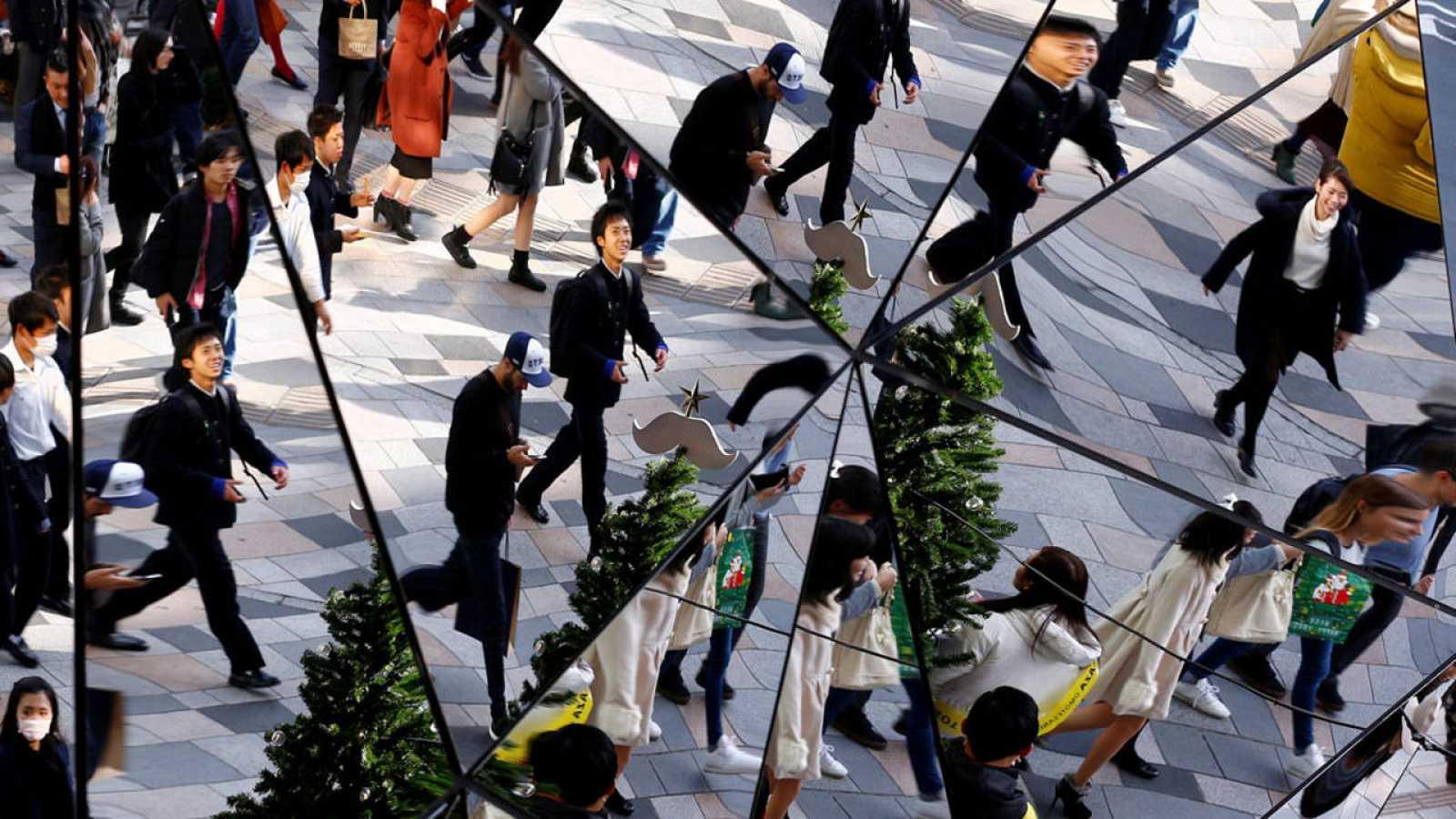 Distrito comercial en Tokio