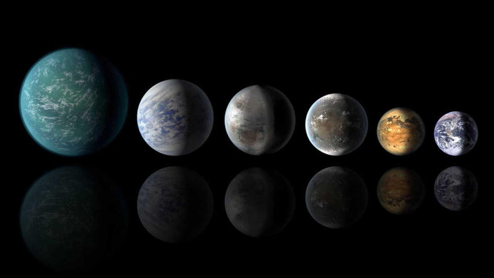 Los mundos encontrados tienen superficie rocosa o acuática, y orbitan sus estrellas a una distancia que permite la existencia de agua líquida en la superficie.