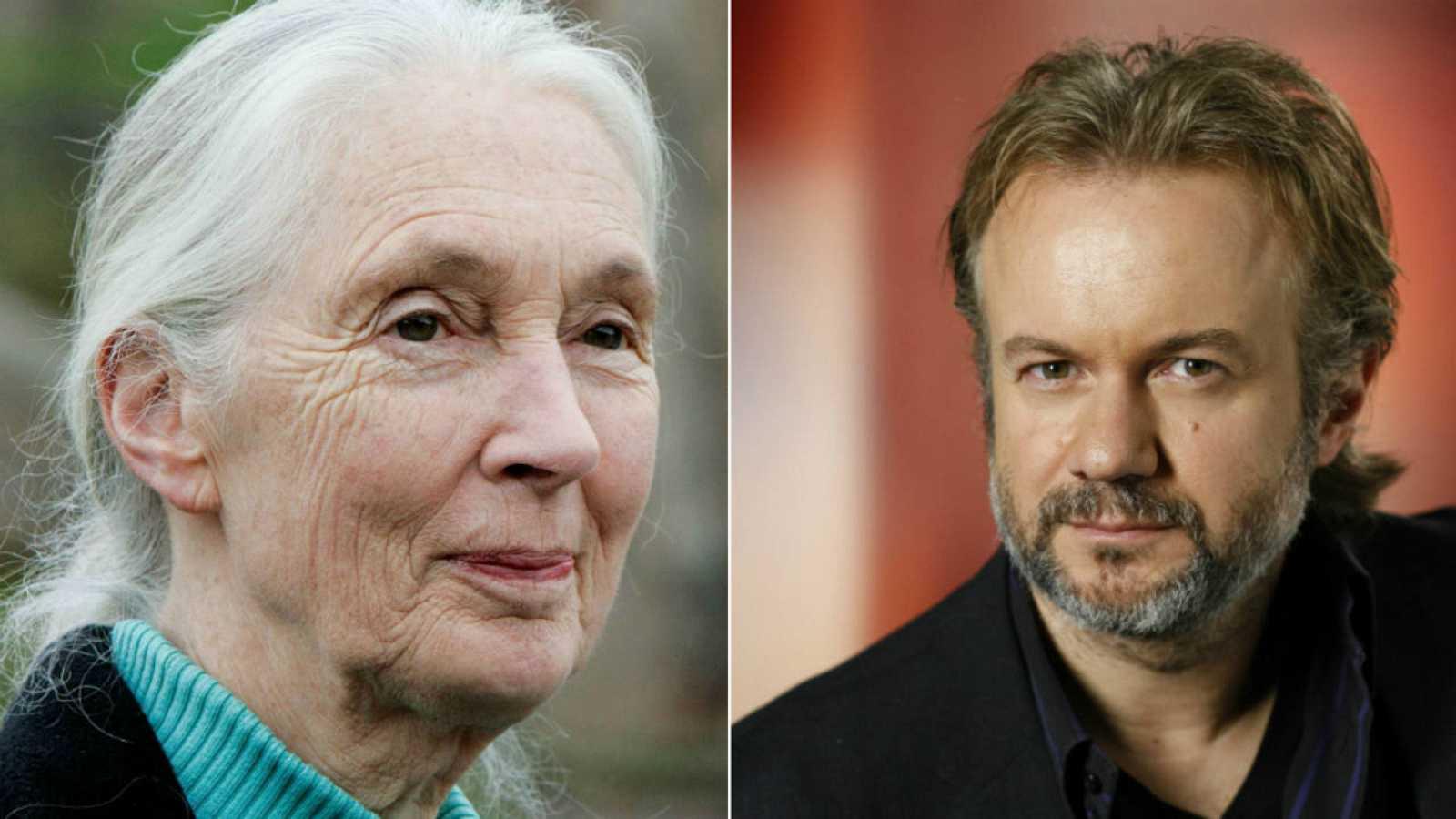 Jane Goodall y Tristán Ulloa