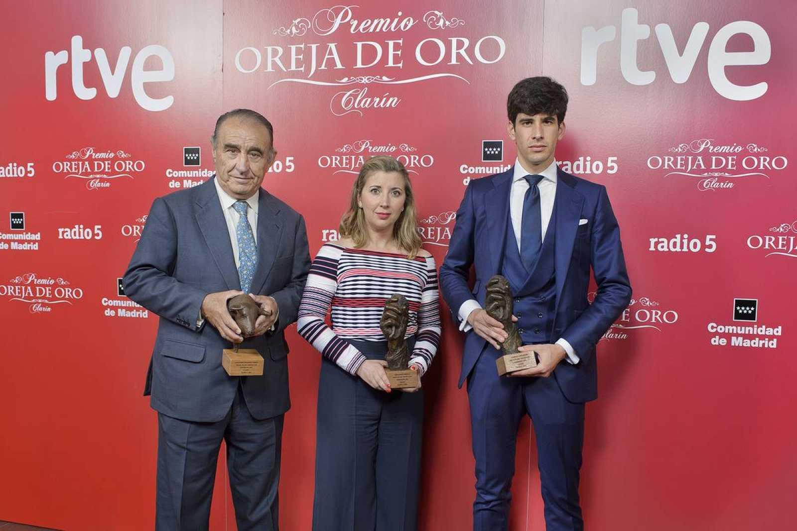 Ricardo Gallardo, Noelia Jiménez y Alberto López Simón