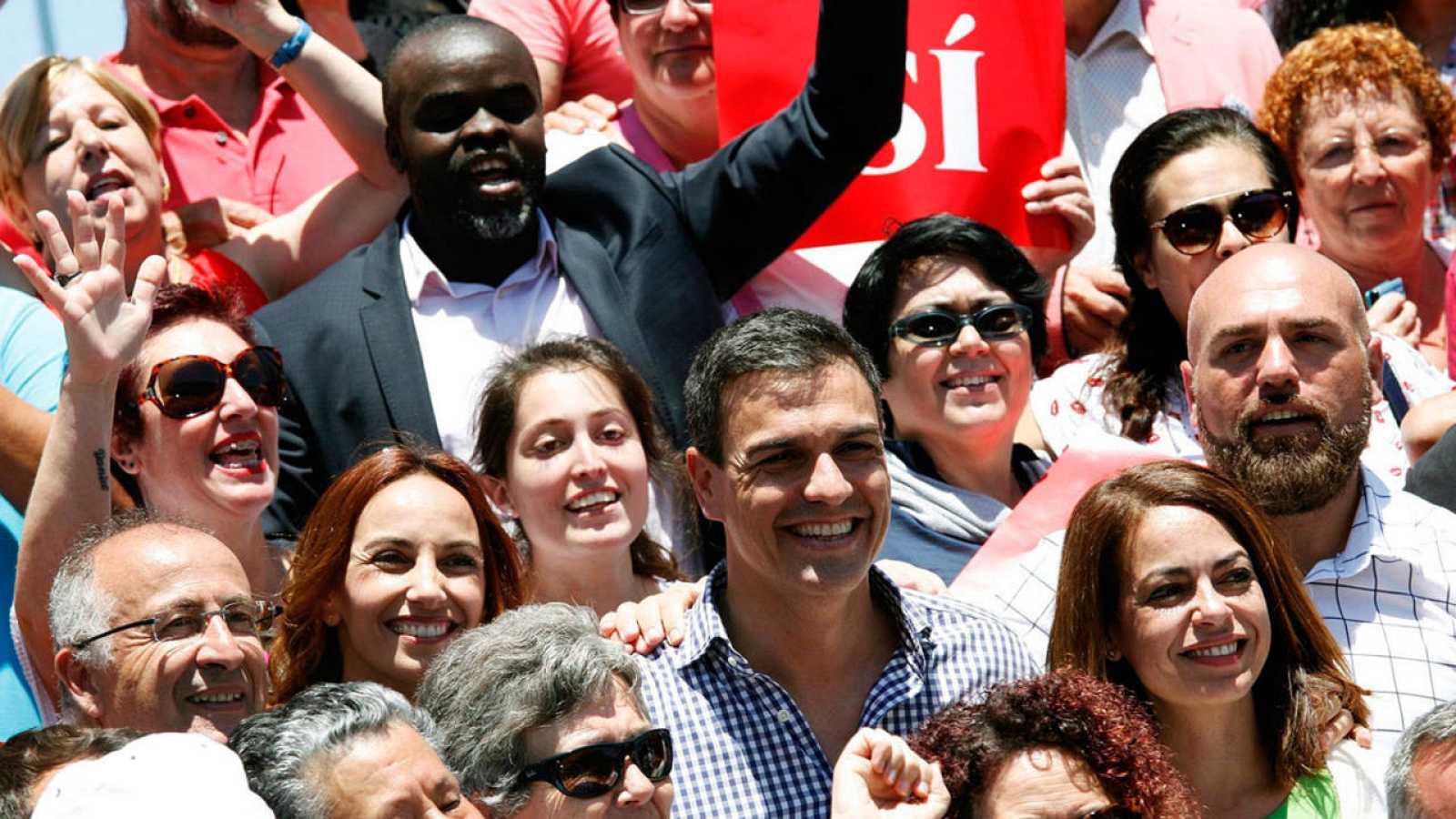 El secretario general y candidato a la presidencia del Gobierno, Pedro Sánchez