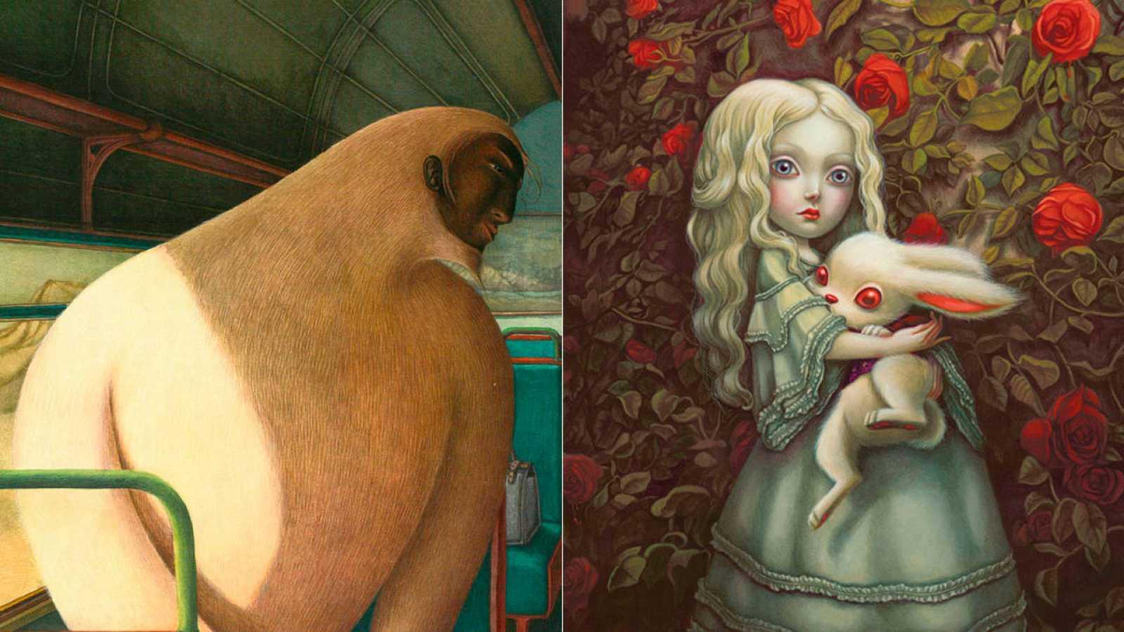 Ilustraciones de 'El yeti', de Dautremer, y 'Alicia', de Lacombe