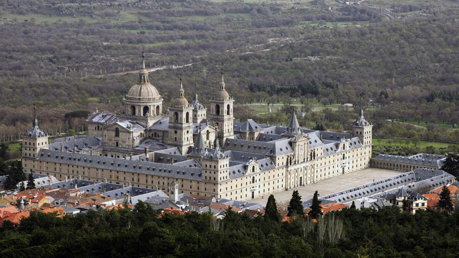Vista aérea de San Lorenzo de El Escorial.