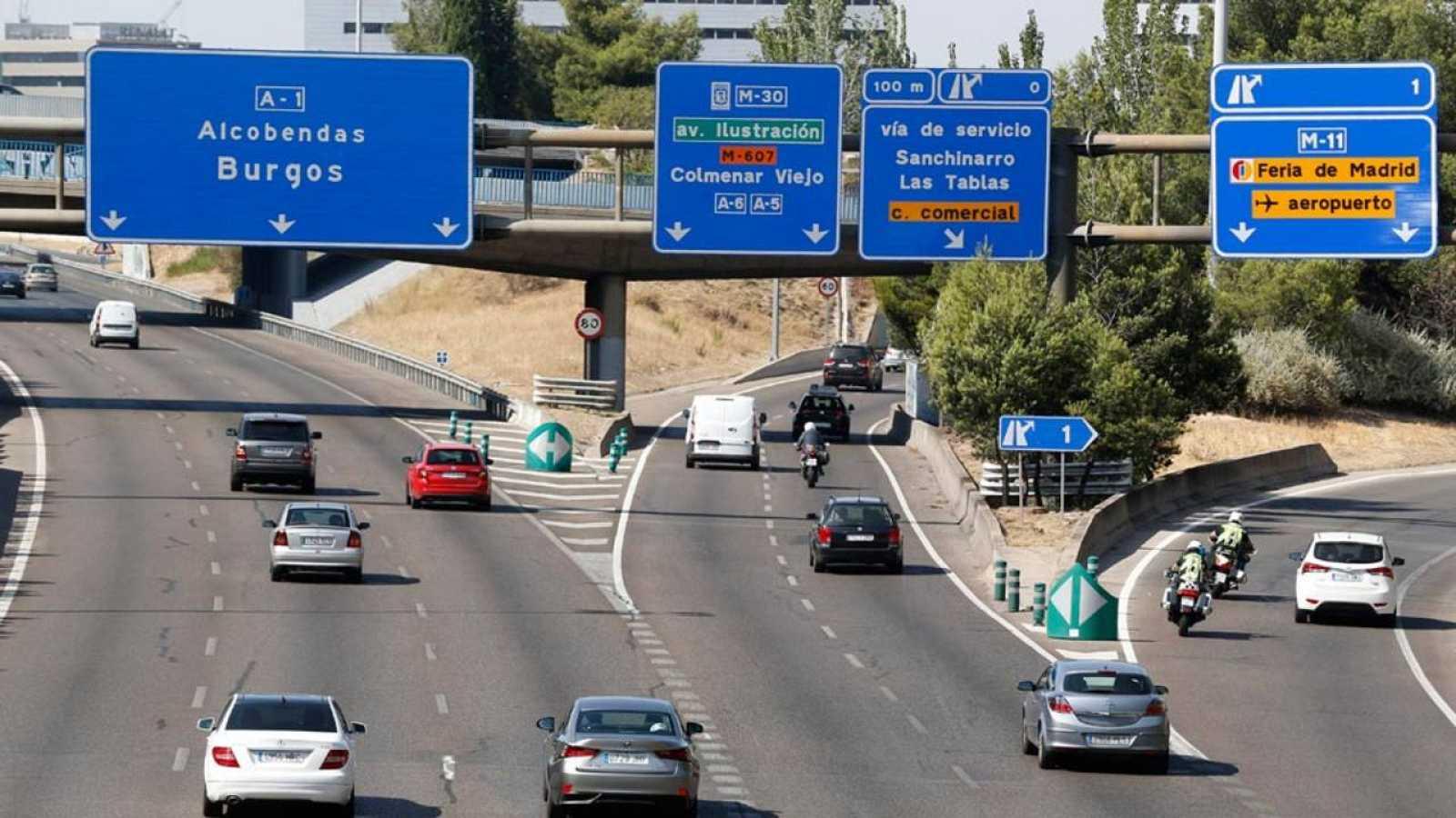 Imagen de las carreteras españolas durante estas fechas