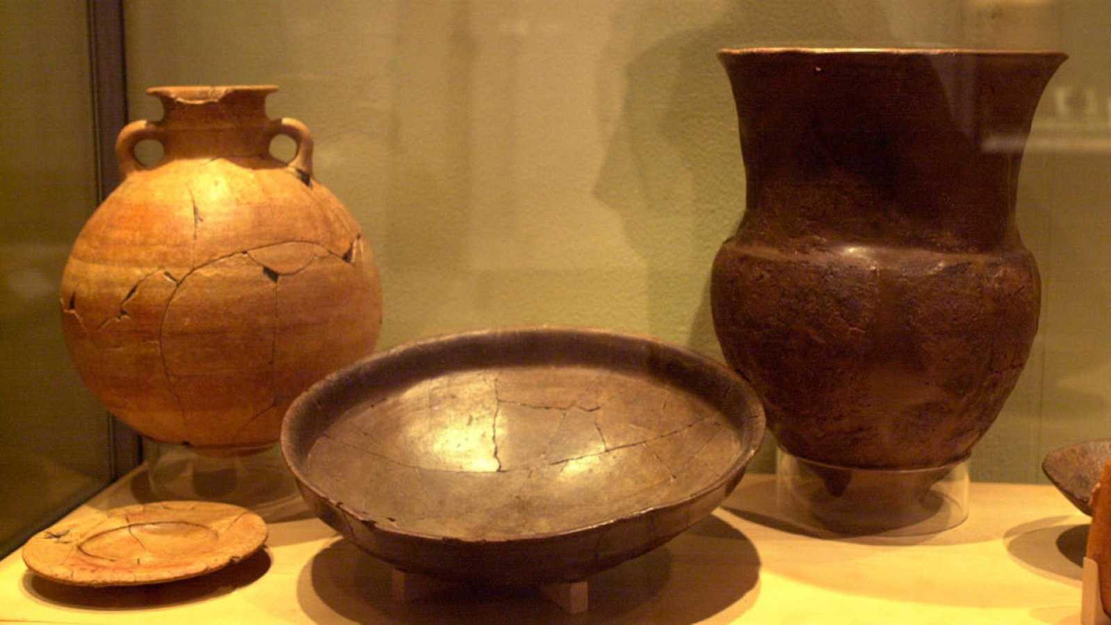 Restos tartésicos expuestos en el Museo Arqueológico Nacional.