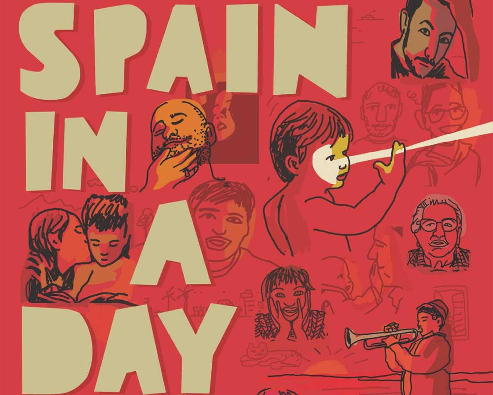 Cartel de 'Spain in a day' de Javier Mariscal