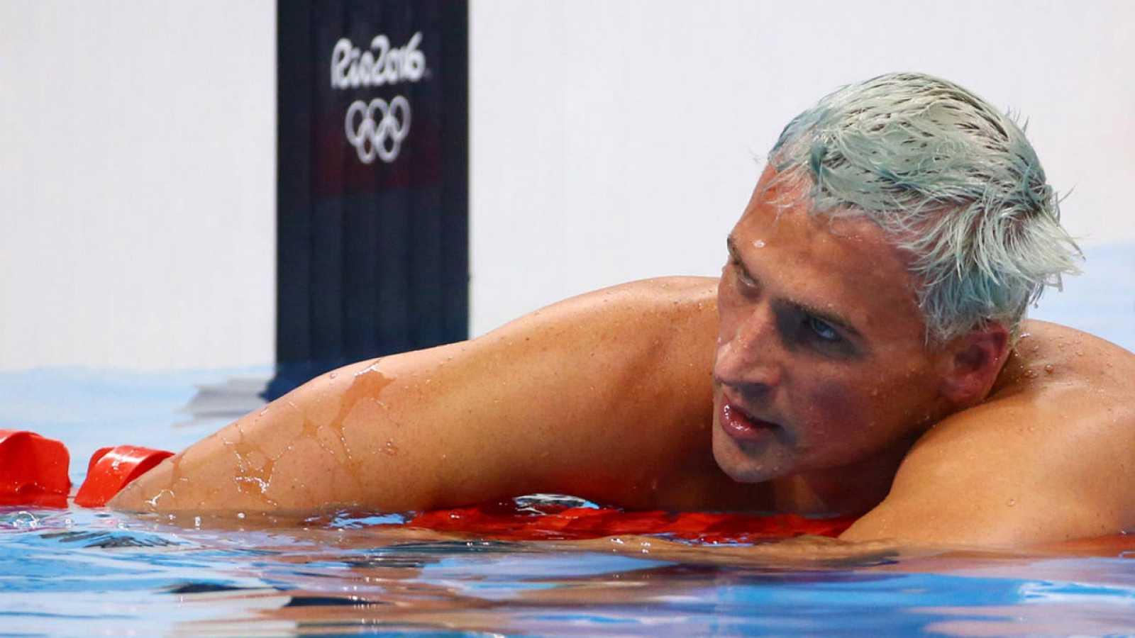 El nadador estadounidense Ryan Lochte durante una prueba el pasado 11 de agosto en Río 2016.