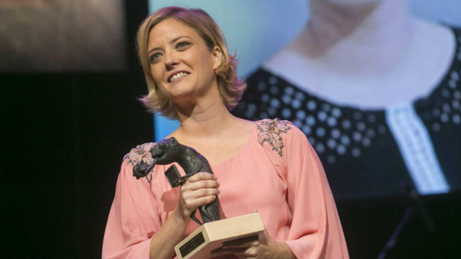 María Casado, reconocida con uno de los Premios Joan Ramón Mainat en el FesTVal de Vitoria 2016