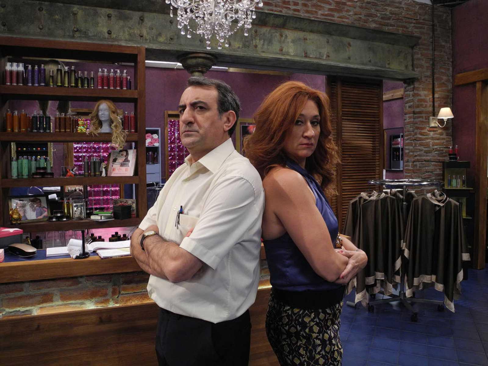 Juanjo Cucalon y Chiqui Fernández, protagonistas de 'La Peluquería'
