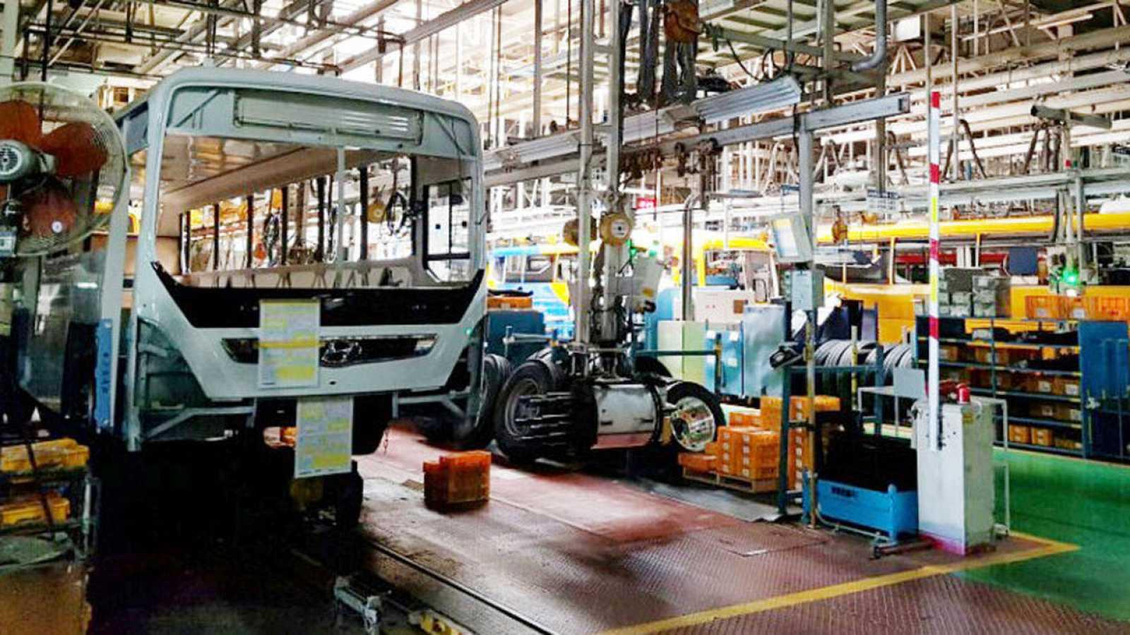 Planta parada de Hyundai en la localidad surcoreana de Jenjou