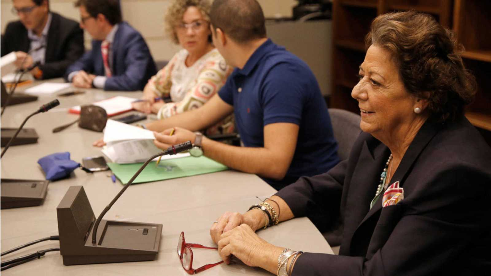 Rita Barberá, durante la reunión Grupo Mixto del Senado.