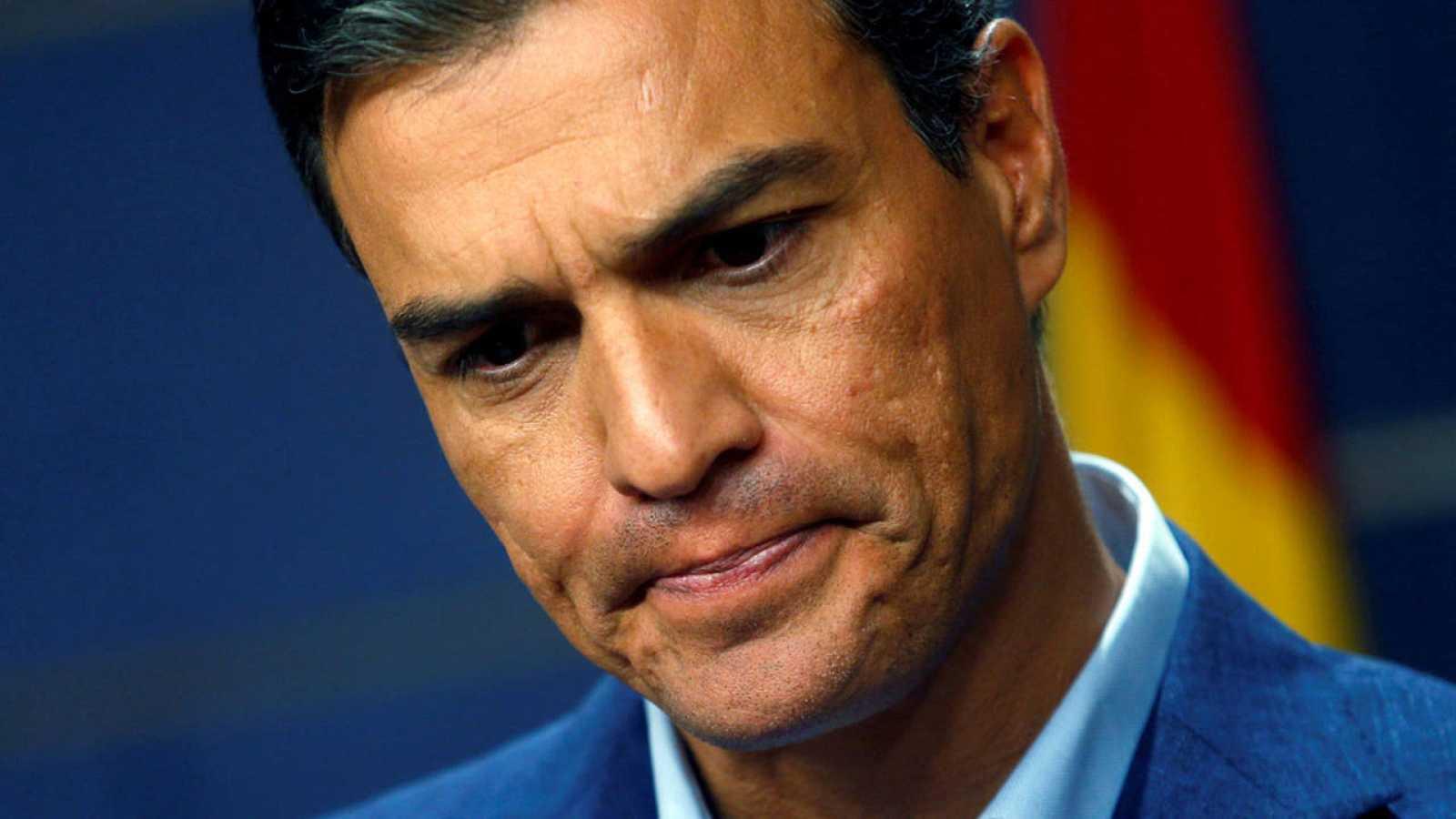 Pedro Sánchez en una comparecencia de hace unas semanas