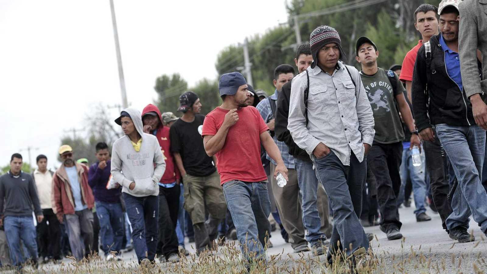 Unos 700 migrantes, la mayoría de ellos de Honduras, Guatemala y el Salvador, recorren territorio mexicano (imagen de archivo)