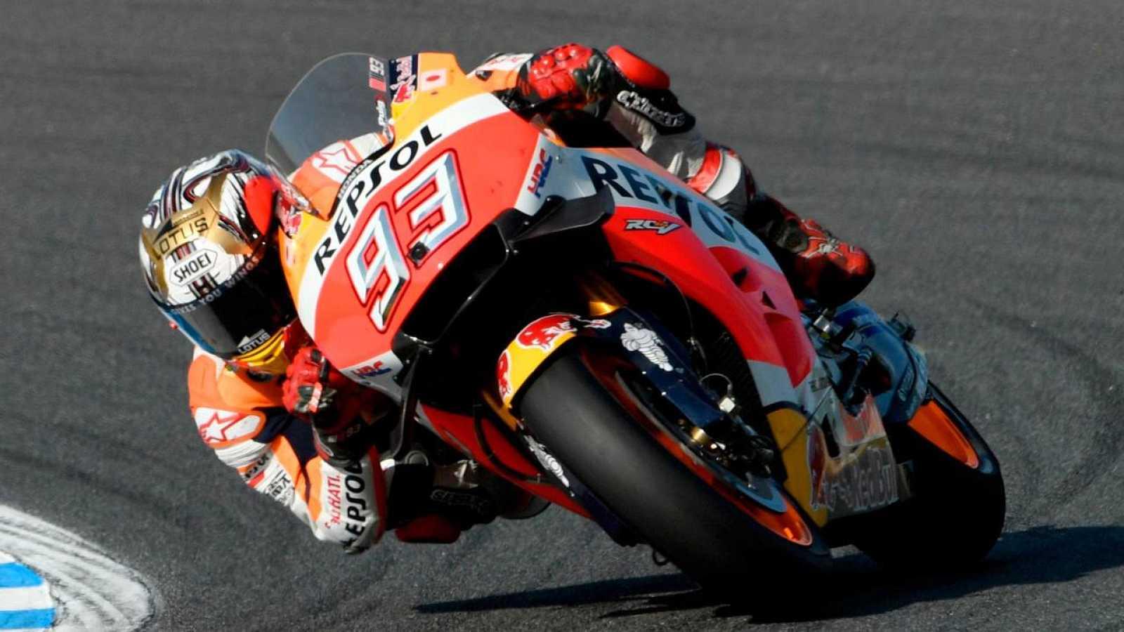 Márquez durante la carrera de Motegi