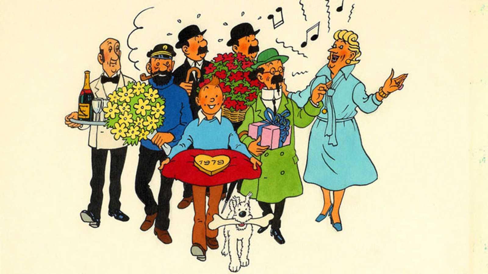 Ilustración e Tintin, facilitada por Herge/Moulinsart