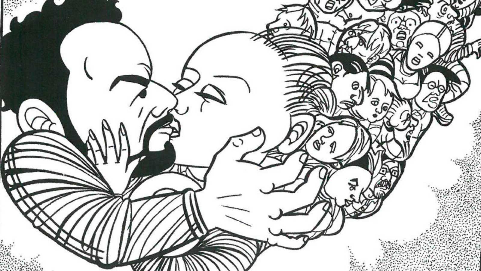 Ilustración de un poema de José Luis Piquero