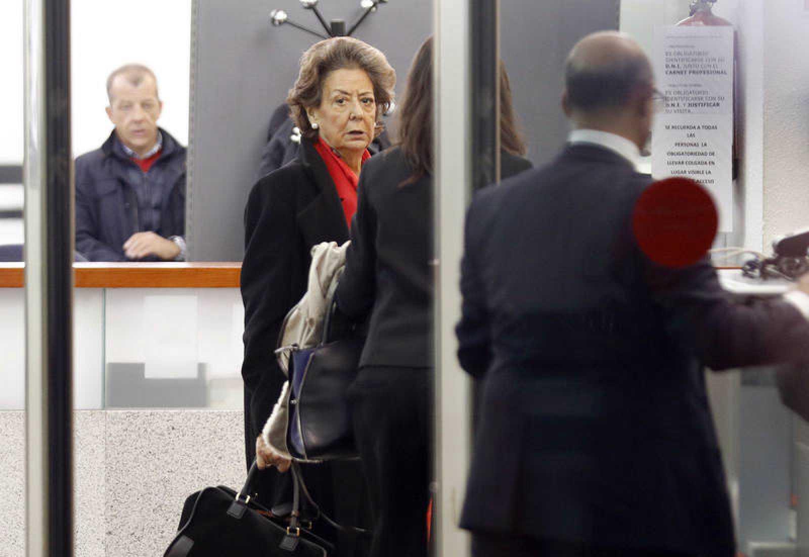 Rita Barberá a su llegada al Tribunal Supremo el pasado lunes