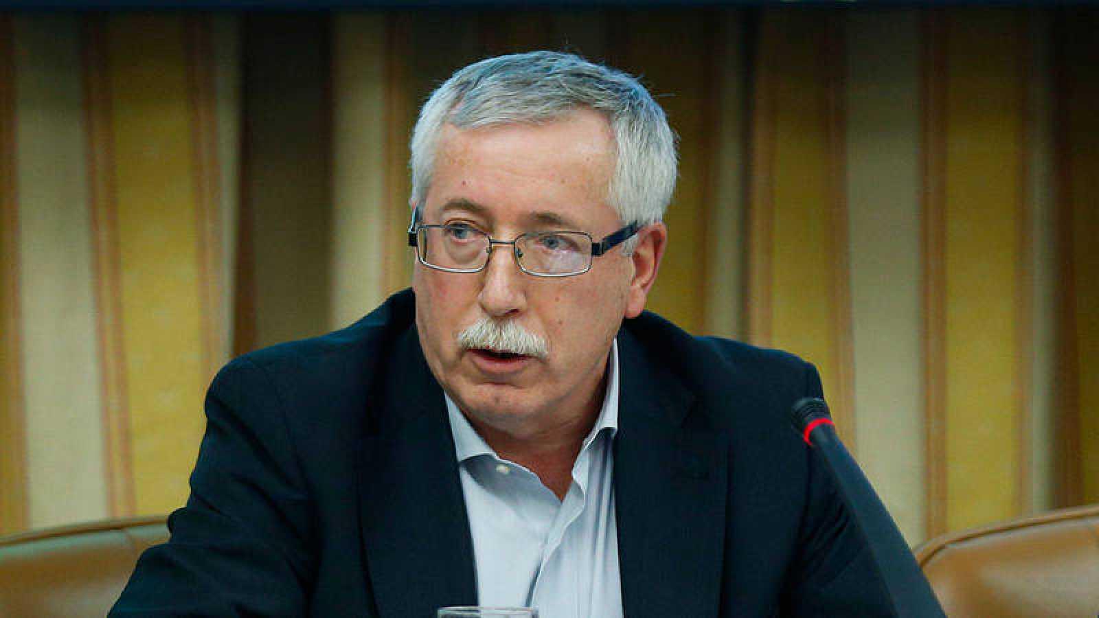 El secretario general de CC.OO., José Ignacio Fernández Toxo, en la Comisión del Pacto de Toledo