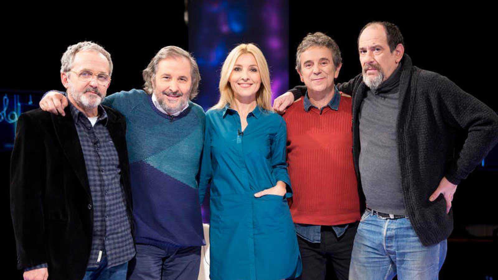 """Cayetana Guillén Cuervo con Ignacio Vilar, Karra Elejalde, Miguel de Lira y Antonio Durán """"Morris"""""""