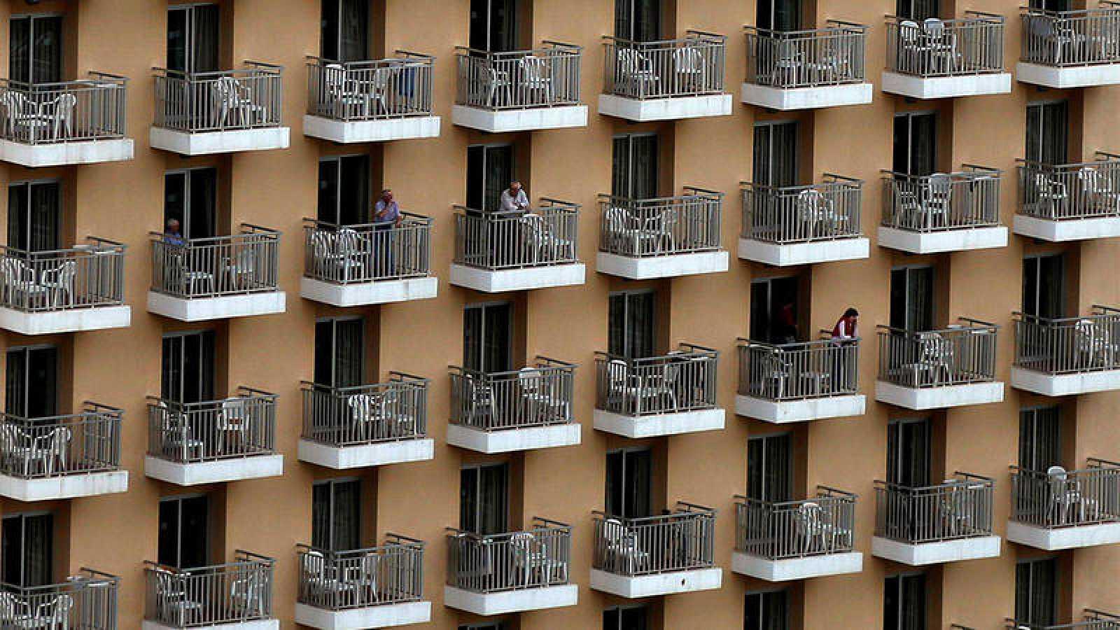 Fachada de un hotel en Benidorm