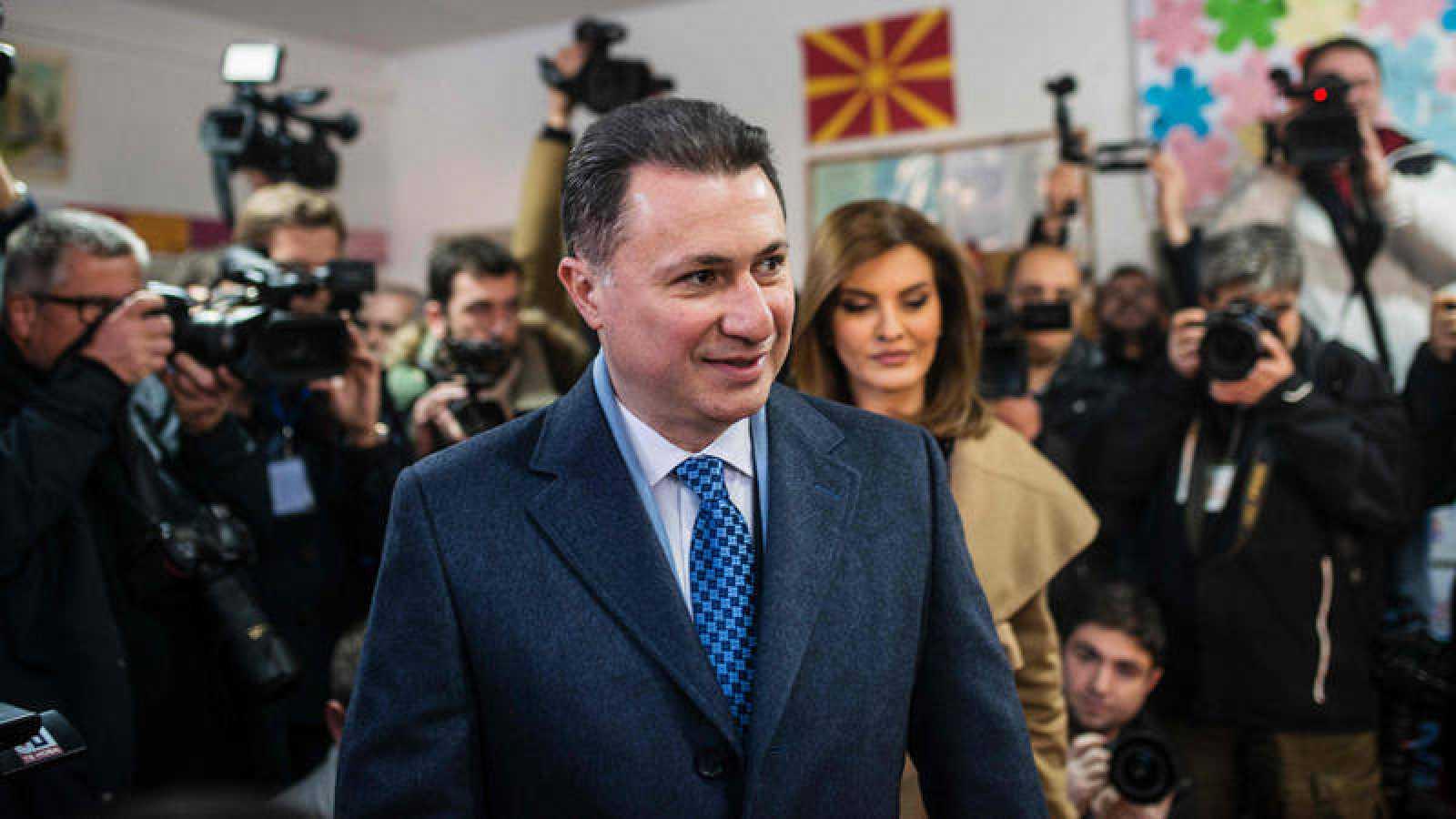 El primer ministro y líder de ganador de las elecciones VMRO-DPNE Nikola Gruevski.