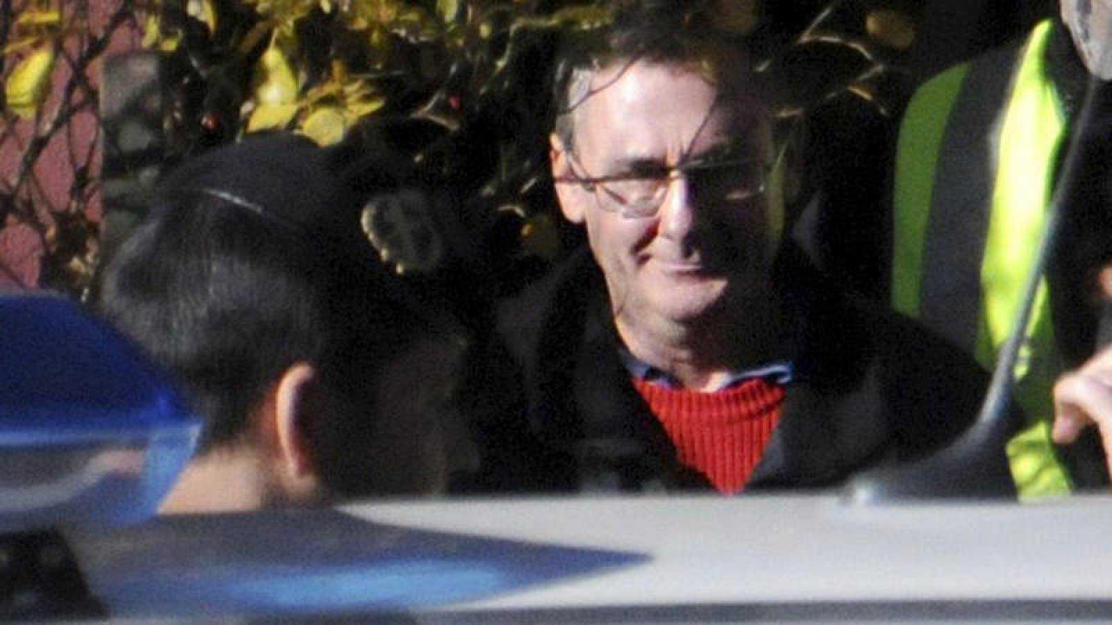 Daniel Fernández Aceña en el momento de su detención