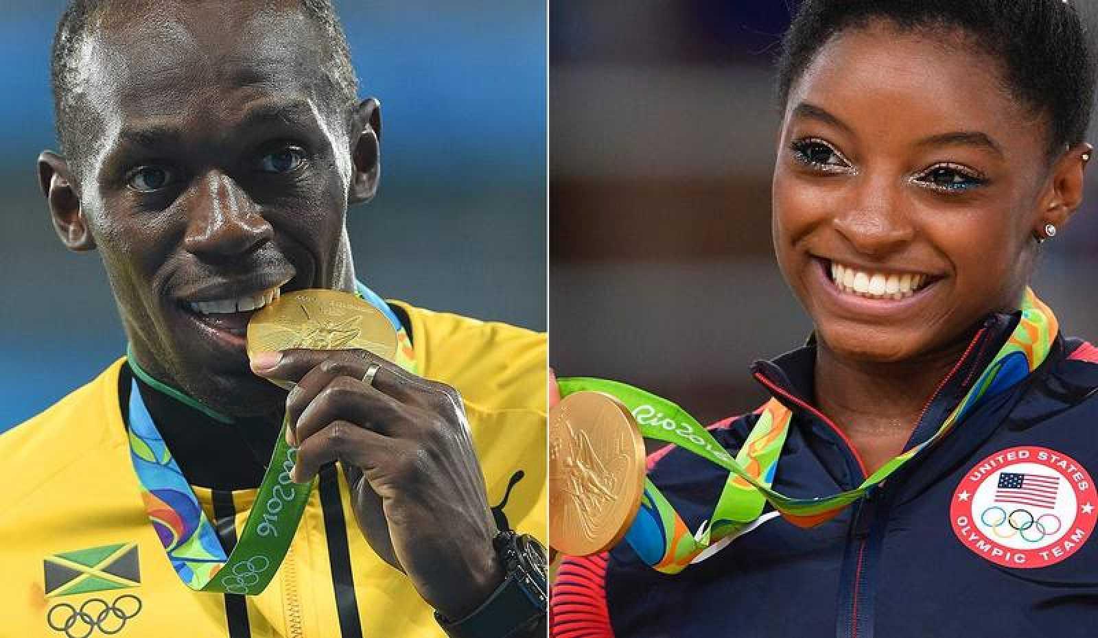 Usain Bolt y Simone Biles, galardonados por L'Equipe.