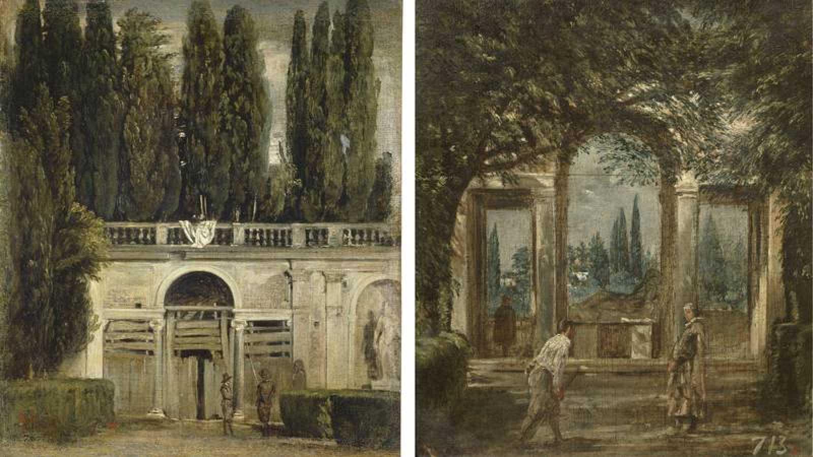 Cuéntame un cuadro: Vistas del jardín de la villa Medici en Roma ...