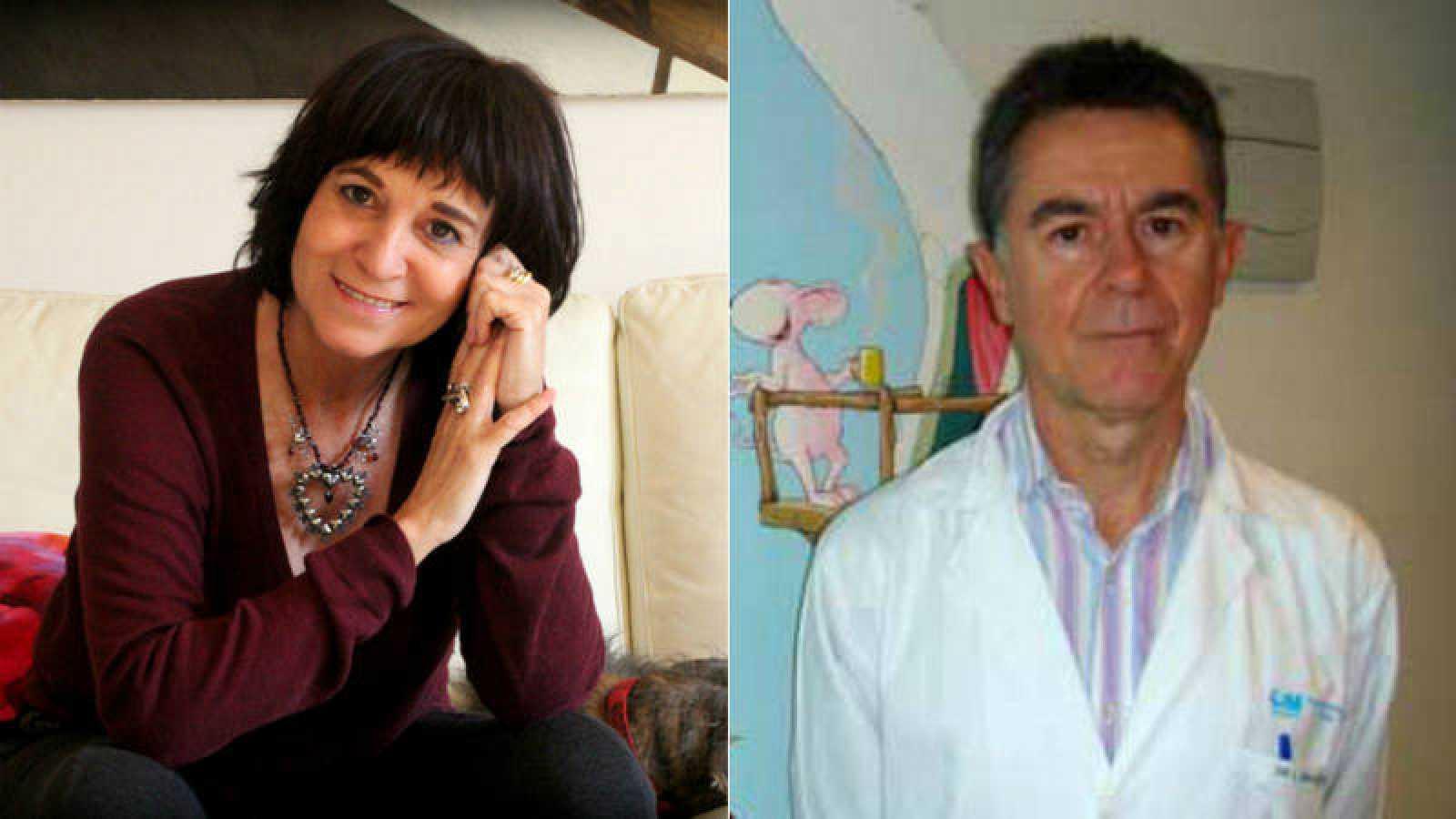 Rosa Montero y Manuel López Santamaría