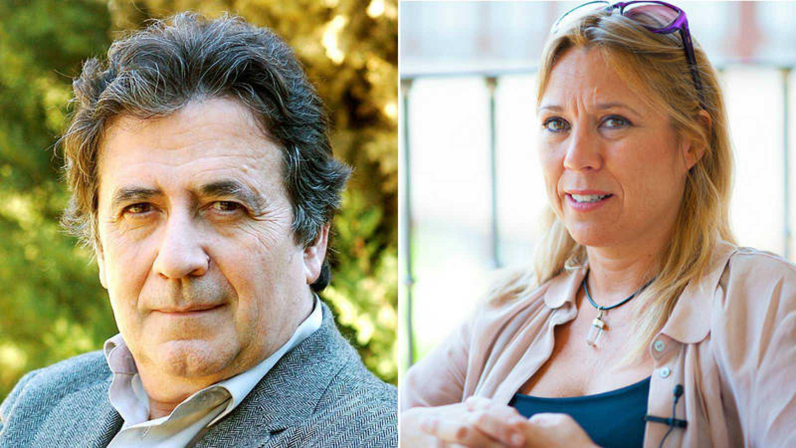Luis Landero y Tamzin Townsend