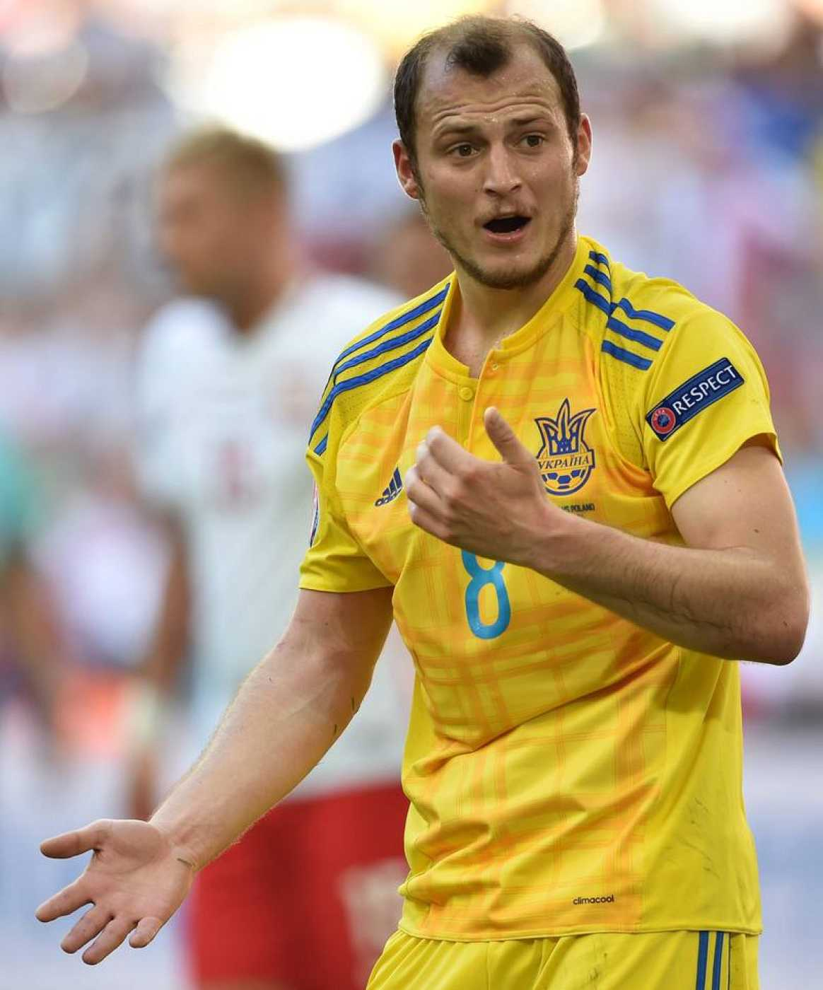 Imagen de Zozulya con la camiseta de Ucrania durante la pasada Eurocopa.