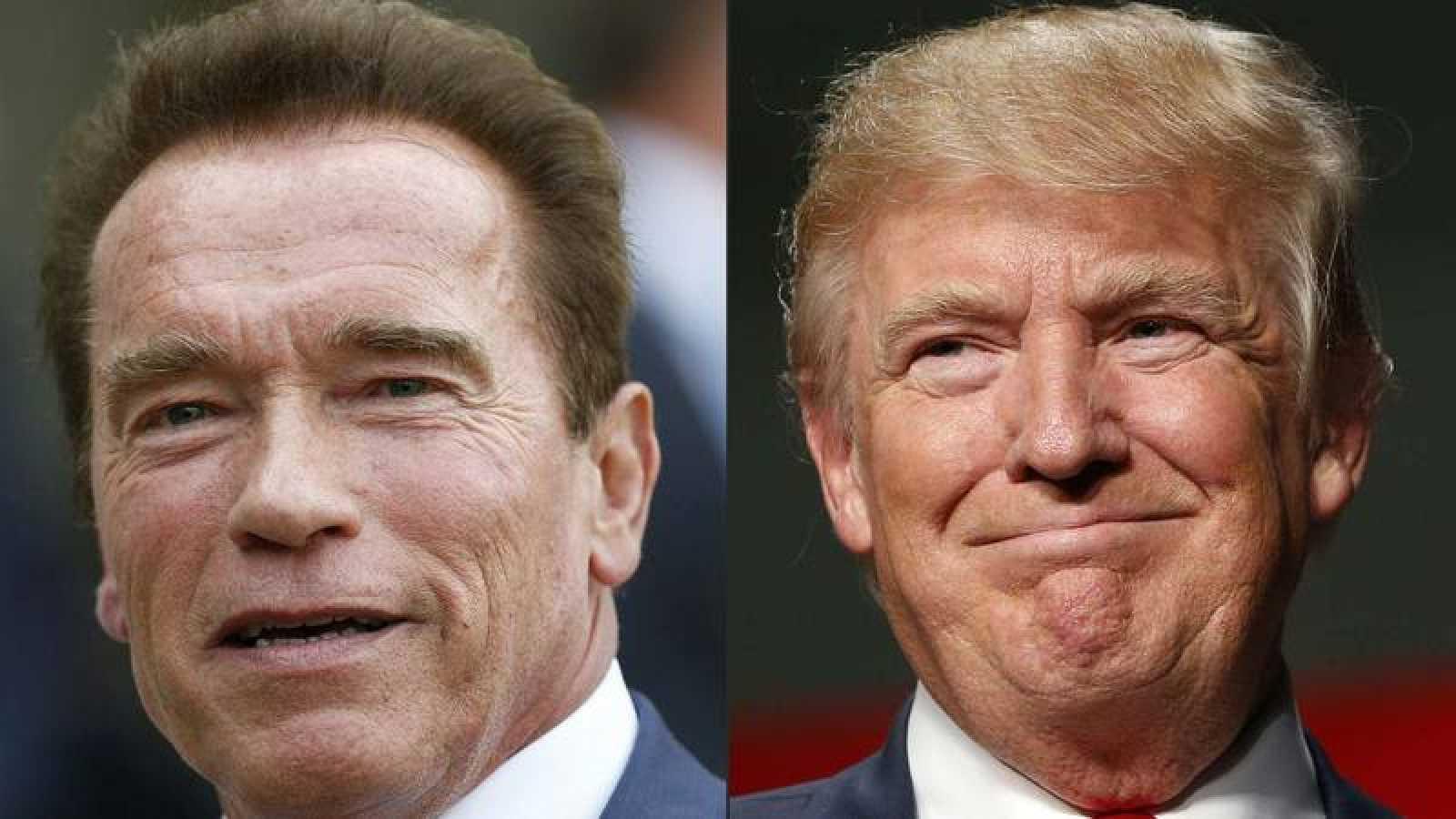 Fotografías de archivo del ex gobernador de California, Arnold Schwarzenegger, y el presidente norteamericano, Donald Trump.