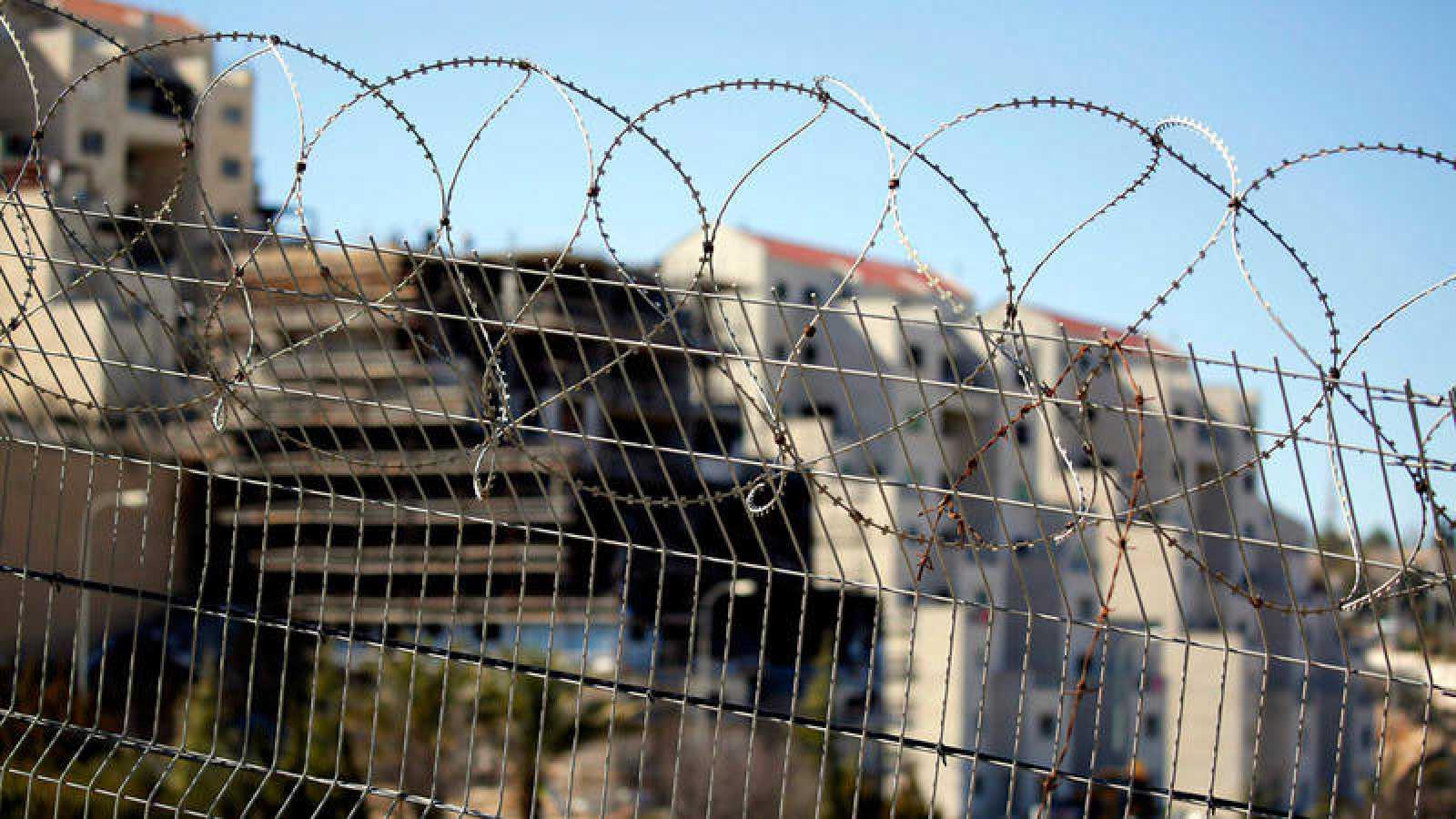 Nuevas construcciones en el asentamiento de Kiryat Arba cerca de Hebrón, en Cisjordania (Palestina)